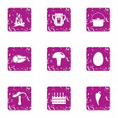 Expedition Icons Set. Grunge Set Of 9 Expedition Icons For Web Isolated On White Background poster