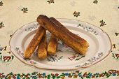 Plate Of Cornbread Sticks