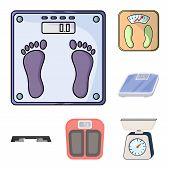 Isolated Object Of Weight And Lab Logo. Set Of Weight And Kitchen Vector Icon For Stock. poster