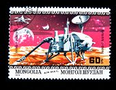 MONGOLIA - CIRCA 1979:  A stamp printed in Mongolia shows spaceship, circa 1979 Series
