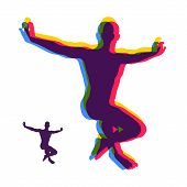 Gymnast. Silhouette Of A Dancer. Gymnastics Activities For Icon Health And Fitness Community. Sport  poster