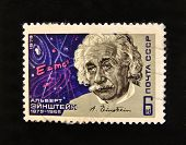 USSR - CIRCA 1979: A stamp printed in the USSR shows Albert Einstein, circa 1977.