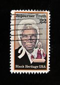 USA - CIRCA 1986: A stamp printed in USA shows Sojourner Truth, circa 1992.