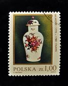 POLAND - CIRCA 1978: A Stamp printed in the POLAND shows antique Faience, circa 1978. Series