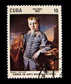 CUBA - CIRCA 1981: A stamp printed in Cuba shows a picture by Francis Lotes