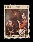 CUBA - CIRCA 1981: A stamp printed in Cuba shows a picture by Giovanni B. Piazzeta, circa 1981