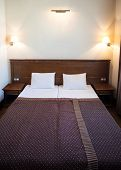 Hotel Room With Two Beds And Light On Wall, Sleeping Hotel Suite, Hotel Bedrooms poster