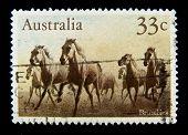 AUSTRALIA - CIRCA 1990s: A stamp printed in Australia shows image of a wild horse, circa 1990s