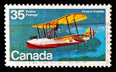 CANADA - CIRCA 1994: A stamp printed in Canada shows image of a Vickers Vedette flying boat (biplane