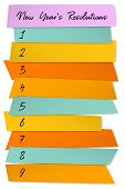 New Year Resolutions List Vector Template For Goals. To Do List Blank Sticky Notes. Changes Resoluti poster