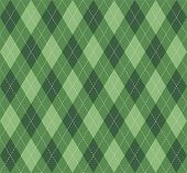 Christmas And New Year Argyle Plaid. Scottish Pattern In  Green Rhombuses. Scottish Cage. Traditiona poster