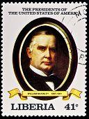 LIBERIA - CIRCA 2000s: A stamp printed in Liberia shows President William McKinley, circa 2000s.