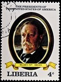 LIBERIA - CIRCA 2000s: A stamp printed in Liberia shows President William H. Taft, circa 2000s.