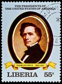 LIBERIA - CIRCA 2000s: A stamp printed in Liberia shows President Franklin Pierce, circa 2000s.
