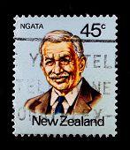 NEW ZEALAND - CIRCA 1990s: A stamp printed in New Zealand showing Sir Apirana Turupa Ngata  - a prom