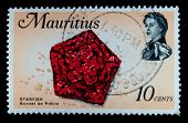 MAURITIUS - CIRCA 2000s: A stamp printed in Mauritius shows image of an Starfish, circa 2000s