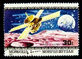 MONGOLIA - CIRCA 1979: A stamp printed in Mongolia showing space exploration circa 1979. Space Series