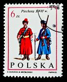 POLAND - CIRCA 1983: a stamp printed by Poland shows foot soldier Army of King John III. Infantry. X
