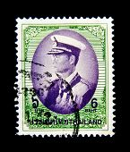 THAILAND - CIRCA 1997: A stamp printed in Thailand shows Bhumibol Adulyadej Rama IX of Thailand, circa 1997