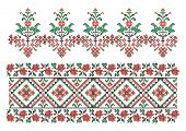 vector ornaments. Ukrainian traditional embroidery. Set 6