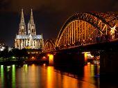 pic of koln  - Rhine and Dom of Cologne - JPG