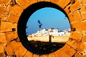 Postcard view of Essaouira Fortress, Morocco, Africa