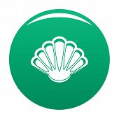 Nice Shell Icon. Simple Illustration Of Nice Shell Icon For Any Design Green poster