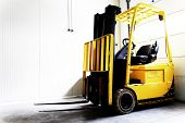 stock photo of forklift driver  - Forklift Truck - JPG
