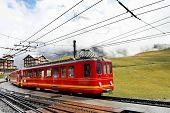 Jungfrau Bahn in Kleine Scheidegg station, Zwitserland