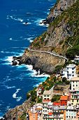 Riomaggiore Village and Via del Amore, Cinque Terre, Italy