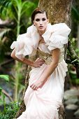 image of snob  - portrait of a beautiful fashion model wearing an elegant dress - JPG