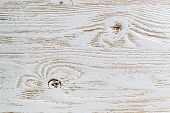 Shabby White Painted Wood Texture Close-up As Background. poster