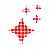 Shine Stars Halftone Dotted Icon. Halftone Array Contains Circle Dots. Vector Illustration Of Shine  poster