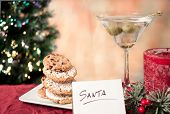 Cookies And Martini For Santa