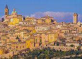 Stunning View Of Trevi Historical Center, Typical Mediaeval Village In Umbria, Italy poster