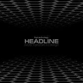 Black Hexagons Abstract Technology Background. Perspective Horizon Vector Design poster