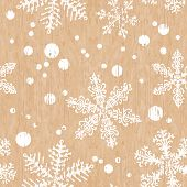 Old Shabby Background With Snowflakes. Seamless Christmas Texture. Endless Texture For Wallpaper, Fi poster