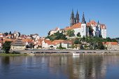 Panoramic View Of Meissen In Germany