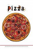 pizza menu cover - vector drawing