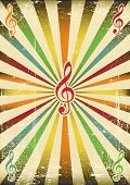 Music background. A musical background for your concert