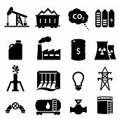 Oil And Energy Icon Set