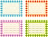 Checkered Labels