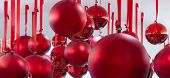 Red christmas glass ball ornaments