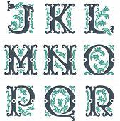 vintage alphabet.