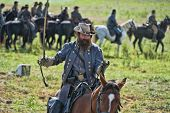 SHARPSBURG, MARYLAND - SEPTEMBER 16: J.E.B. Stewart at the 150th anniversary of civil war battle in Antietam on September 16, 2012 in Sharpsburg, Maryland. Actual battle took place on 9/17/1862.