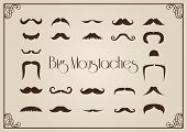 stock photo of swag  - The collection of big mustaches - JPG