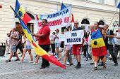 Protest In Rumänien