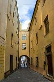Old Street In Olomouc (Olmütz), Czech Republic.