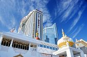 ATLANTIC CITY, NJ -  SEPTEMBER 8: Trump Taj Mahal Casino on September 8, 2012 in Atlantic City, New Jersey. Gambling was legalized in the city in 1976 and led to a resurgence.
