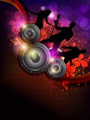 Abstract musical party background. EPS 10.